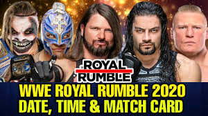 WWE Royal Rumble 2020 Date, telecast time in India & Match card Predictions!