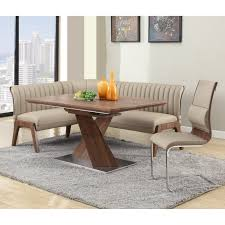corner breakfast nook furniture contemporary decorations. Exquisite Walnut Veneer Dining Table With Matching Upholstered Nook Corner Breakfast Nook Furniture Contemporary Decorations H