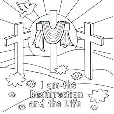 Bible Coloring Pages At Free Printable Easter Biblical Resurrection
