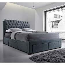 Next Home Bedroom Artisan Button Back Fabric Bed With Drawers Next Day Delivery