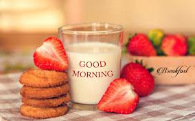 good morning breakfast milk hd wallpaper