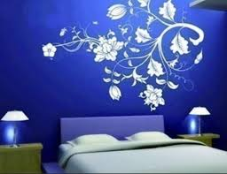 bedroom wall design. modern flowers bedroom wall decorations design r