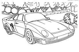 Porsche 959 Kleurplaat Gratis Kleurplaten Printen