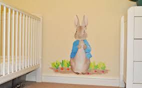 Peter Rabbit Nursery Wall Art In Best And Newest Bedroom: Chic Peter Rabbit  Bedroom.