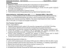 Auditor Resume Sample Auditor Internal Audit Resume Sample As Image File 100a Objectives 84
