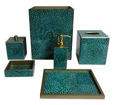 dark green bathroom accessories. brown bathroom accessories : 6 charming turquoise | detroitgreenmap.org dark green g