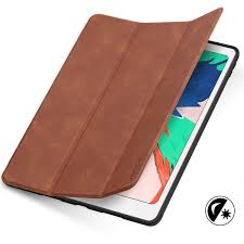 tucch ipad air 3 10 5 inch 2019 leather case cover with auto sleep wake trifold stand pencil holder grinding texture brown