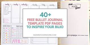 Bullet Journal Template Pdf Top 40 Free Bullet Journal Printables For Serious Bujo Fans