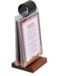 Wooden Menu Display Stands FlipTop Menu Holders AcmeTable Top Menu Holders Kepj 44
