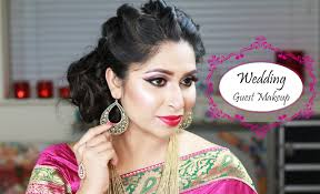 indian wedding guest makeup reception party