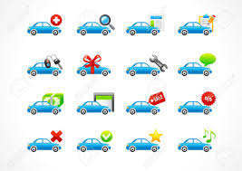 Lease Or Buy A Car For Business Set Of Interface Vector Icons For Cars Service Or Lease Business