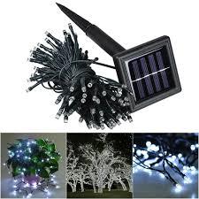 100 White Outdoor Led Solar Fairy Lights 100 Led 39 Ft White Solar String Fairy Light Waterproof Xmas