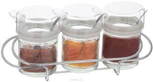 "<b>Набор банок для хранения</b> продуктов ""SinoGlass"", с ложками, на ..."