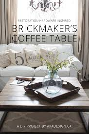 diy restoration hardware style brickmaker s coffee table super easy and inexpensive uses wood not
