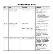 Simple Report Template Project Closure Report Template 8 Documents In Pdf Word