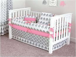 image of rose gold nursery bedding