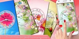 flower clock live wallpaper 2018