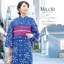 浴衣 3点セット浴衣半幅帯 マクレ下駄 30代 Macle By 和服 Bonheur
