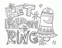 Small Picture Let Freedom Ring 4th of July coloring page for kids coloring