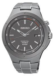 seiko mens titanium kinetic ska495p1 amazon co uk watches seiko men s quartz watch kinetic ska713p1 metal strap