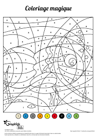 Poissons Avril Coloriage Magique Graphick Kids