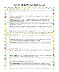 Printable Baby Shower Guest List Template To Do Rsvp Benvickers Co