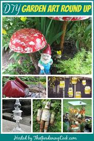 round up of unique garden art diy projects