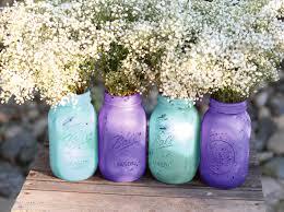 Blue Mason Jars Wedding Decor Mason Jars in Turquoise Blue Violet Wedding Decoration 29