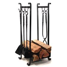 log holder with 5 hooks
