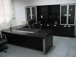 corner office tables. Corner Office Table. Design Table Curve Shape Black Wooden Wheeled Chair Rectangle Brown Tables