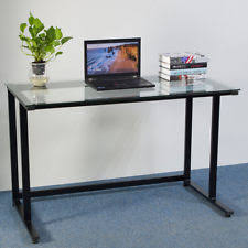 glass office tables. Modern Home Office Transparent Glass Computer Desk Workstation Laptop PC Table Tables