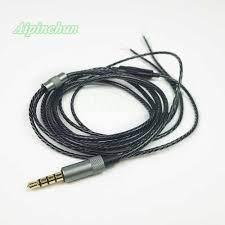Aipinchun 3.5mm 4 Cực Jack Tai Nghe Tai Nghe DIY Cáp Âm Thanh với  Microphone Sửa Chữa Thay Thế Headphone LC OFC Dây Dây A28|Earphone  Accessories