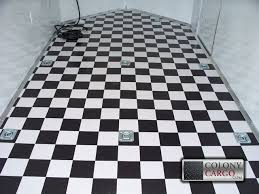 concession options black and white checd floor 02 home quick e cargo trailers