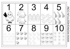 counting worksheets 1 10 – tomtelife.com