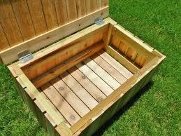 building a deck storage bench wooden garden storage box small deck storage box brown garden storage
