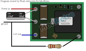 xcvg s guide to the n64 the official modretro forums now that you ve figured out the regulator you have to connect power to the n64 here s a picture for you just make sure the 12v and 3 3v lines aren t
