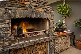 Kitchen Fireplace For Cooking Cooking Up A Storm Outdoor Wood Burning Fireplaces