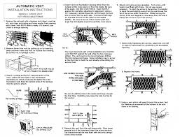 replacement foundation vents. Contemporary Vents Installation Instructions For The TV Series 5 Temp Vent To Replacement Foundation Vents I