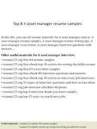 It Asset Management Resume Sample Best Asset Manager Resume Images