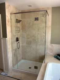 frameless glass shower door installation