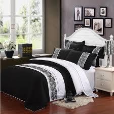 modern comforter sets king black and white set bed wooden storage 7