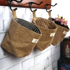 Capricious Wall Hanging Baskets Also Basket Storage Large Image For With 3  Best On Bathroom