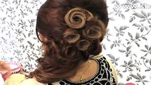 Hair Style India how to indian bridal hairstyle youtube 3323 by stevesalt.us