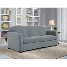 2 piece sofa slipcover stretch pique 2 piece t sofa slipcover sure fit