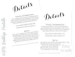 Wedding Information Template Free Wedding Accommodation Card