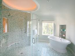 Part Tiled Bathrooms Spa Inspired Master Bathroom Hgtv