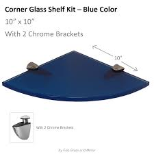 Corner Glass Shelves And Brackets Fab Glass And Mirror Quarter Circle Corner Floating Blue Glass 79