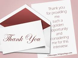 Thank You Notes After Interview 365greetings Com