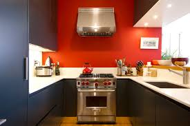 Red Black Kitchen Themes Kitchen Exciting Small Kitchen Decoration Using Red Paint For