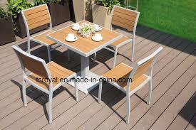 china outdoor hotel patio plastic wood